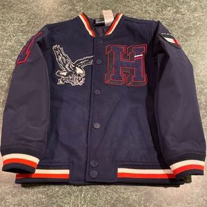 Tommy Hilfiger Magnet Button Varsity Jacket Medium